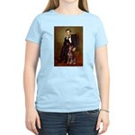Lincoln's Red Doberman Women's Light T-Shirt