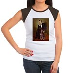 Lincoln's Red Doberman Women's Cap Sleeve T-Shirt