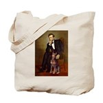Lincoln's Red Doberman Tote Bag
