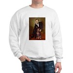 Lincoln's Red Doberman Sweatshirt