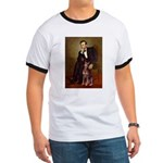 Lincoln's Red Doberman Ringer T