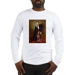 Lincoln's Red Doberman Long Sleeve T-Shirt