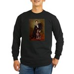 Lincoln's Red Doberman Long Sleeve Dark T-Shirt