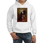 Lincoln's Red Doberman Hooded Sweatshirt