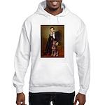 Lincoln's Red Doberman Hooded Sweatshirt