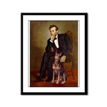 Lincoln's Red Doberman Framed Panel Print