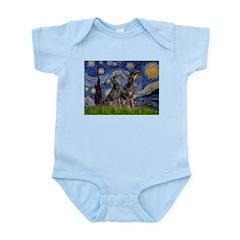 Starry Night / 2 Dobies Infant Bodysuit