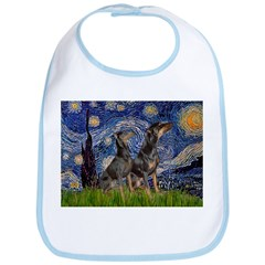 Starry Night / 2 Dobies Bib