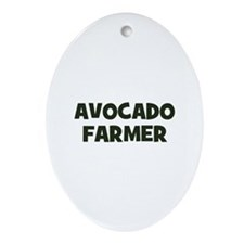 avocado farmer Oval Ornament