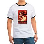 Obey the Saint Bernard! ringer t-shirt