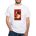 Obey the Saint Bernard! 2-sided White T-Shirt