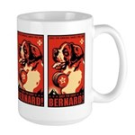 Obey the Saint Bernard! Large Propaganda Mug