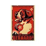 Obey the Saint Bernard! Rectangle Magnet
