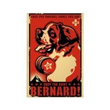Obey the Saint Bernard! Rectangle Magnet