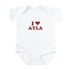 I LOVE AYLA Infant Bodysuit