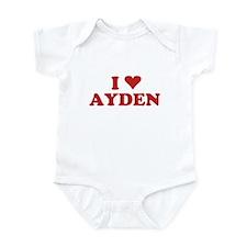 I LOVE AYDEN Infant Bodysuit