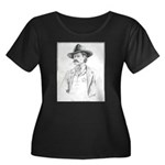 Old Time Lawman Women's Plus Size Scoop Neck Dark