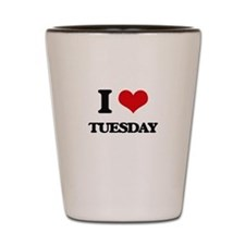 I love Tuesday Shot Glass