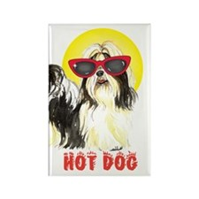 Summer Shih Tzu Rectangle Magnet