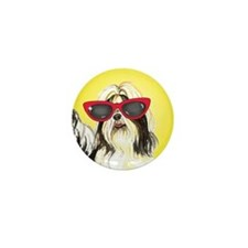 Summer Shih Tzu Mini Button