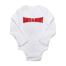Cute White and nerdy Long Sleeve Infant Bodysuit
