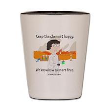 Chem Major Happy Shot Glass