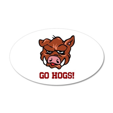 GO HOGS Wall Decal