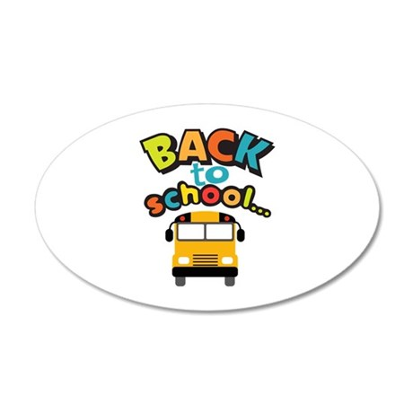 BACK TO SCHOOL BUS Wall Decal