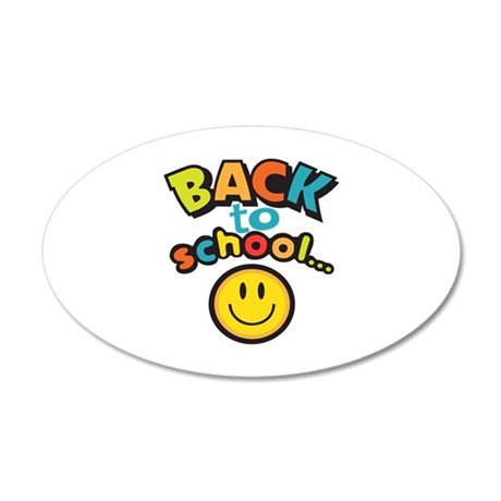 SCHOOL SMILEY FACE Wall Decal