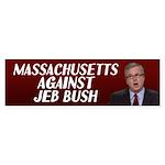Massachusetts Against Jeb Bush Bumper Sticker