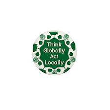 Go Green Mini Button (100 pack)