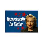 Massachusetts For Clinton Magnet Magnets