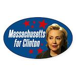 Massachusetts For Clinton Bumper Sticker
