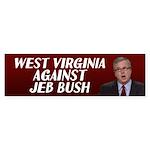 West Virginia Against Jeb Bush Bumper Sticker