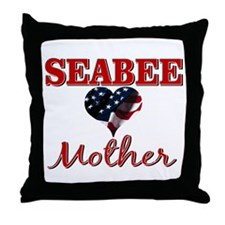 SEABEE Mother Throw Pillow