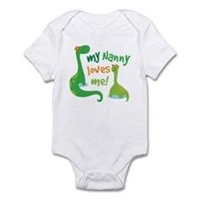 My Nanny Loves Me Dinosaur Infant Bodysuit