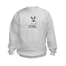 I Love californian Rabbits Kids Sweatshirt