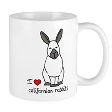 I Love californian Rabbits Mug