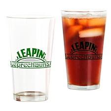 Leapin Leprechauns Drinking Glass
