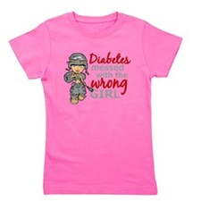 Cute Diabetes Girl's Tee