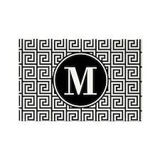Black and White Greek Key Custom Rectangle Magnet