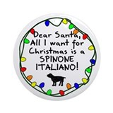 Dear Santa Spinone Italiano Christmas Ornament