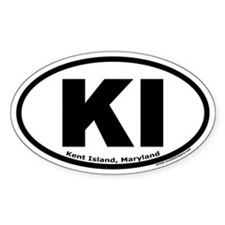 Kent Island, Maryland Oval Decal
