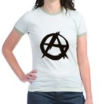 Anarchy-Blk-Whte Jr. Ringer T-Shirt