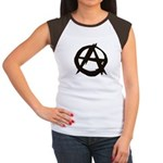 Anarchy-Blk-Whte Women's Cap Sleeve T-Shirt