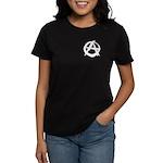 Anarchy-Blk-Whte Women's Dark T-Shirt