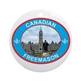 Proud Canada Mason Ornament (Round)