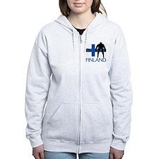 Finland Hockey Zip Hoodie