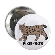 "Pixie-Bob (color) 2.25"" Button (100 pack)"