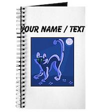 Custom Cat At Night Journal